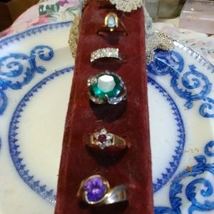 Vintage BIG Lot of Rings Beautiful